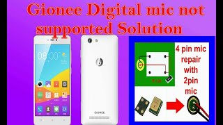 Gionee f103 mic problem solution 4 pin mic repair with 2 pin mic