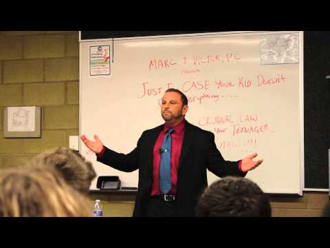 Criminal Defense Attorney Marc J Victor Gives Free Seminar to Teens