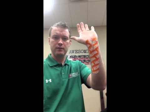 Self tape for carpal tunnel syndrome from Bismarck ND Chiropractor