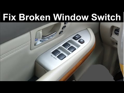 How To Fix Broken Window Switch On a Toyota, Lexus, and Other Japanese Cars