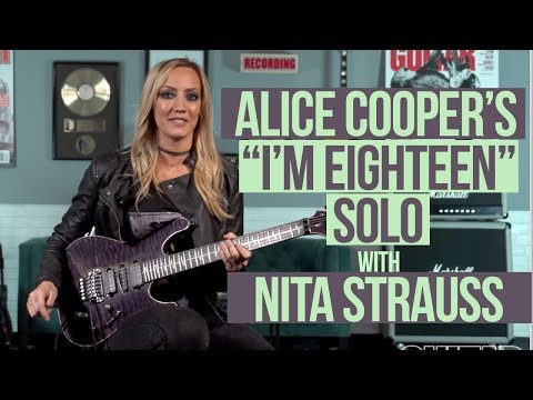 "Alice Cooper's ""I'm Eighteen"" Solo with Nita Strauss"