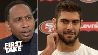 Stephen A. doesn't give Jimmy Garoppolo a chance to outplay Patrick Mahomes | First Take