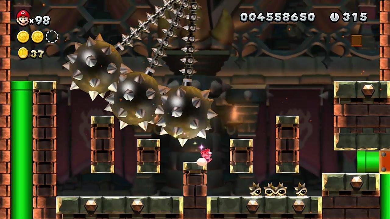 New Super Mario Bros U Walkthrough Part 9 World 9 Superstar