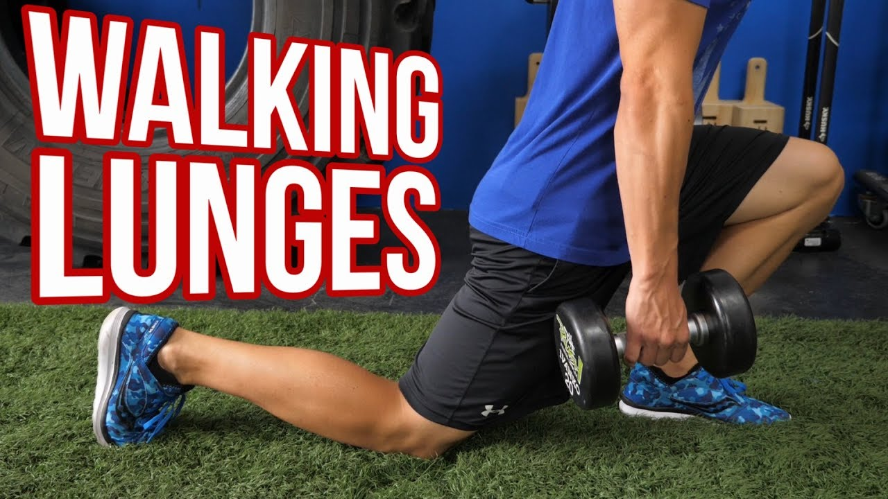 Walking Lunges with Dumbbells - Which STRIDE Length is ...