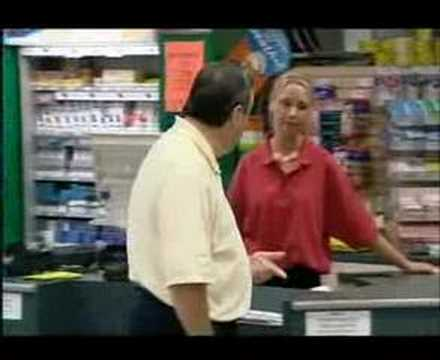 Hidden camera - angry shop assistant - YouTube