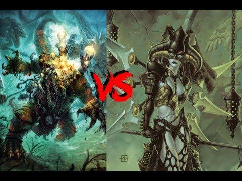 Warmachine Hordes Videocast: Blindwater Congregation Maelok vs Cryx Wraithwitch Deneghra