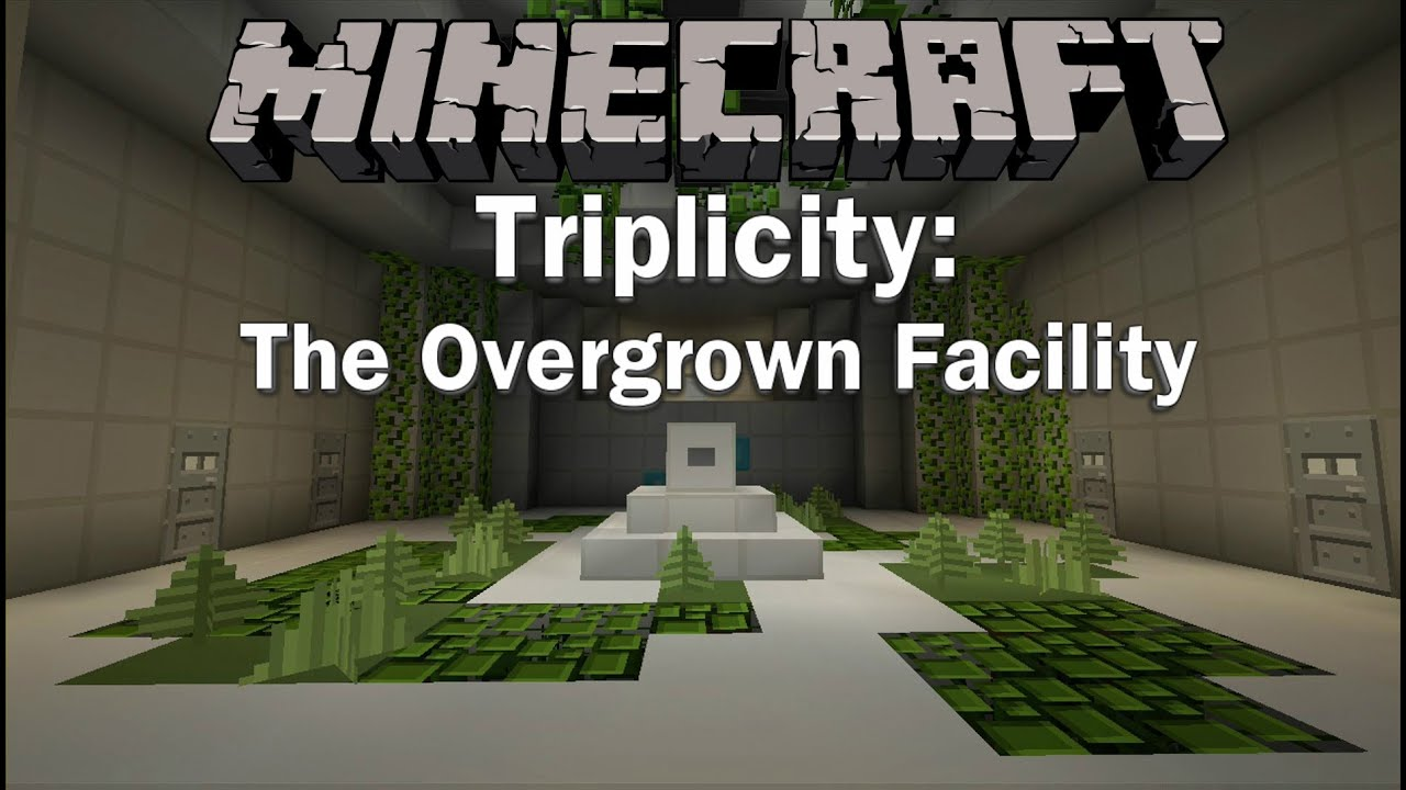 Map 111 2.Minecraft Pc Xbox Triplicity The Overgrown Facility 3 Player Co Op Puzzle Map 1 11 2 Trailer