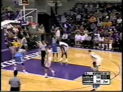 Michael Johnson sinks winning 3 pointer as last of 29 game points 2001 UW - UCLA