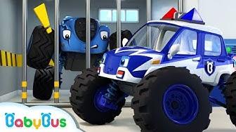 Monster Police Car Song | Police Cartoon | Nursery Rhymes | Kids Songs | Color Song | BabyBus