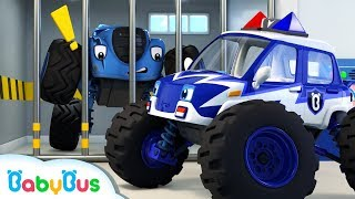 Download Monster Police Car Song | Police Cartoon | Nursery Rhymes | Kids Songs | Color Song | BabyBus Mp3 and Videos