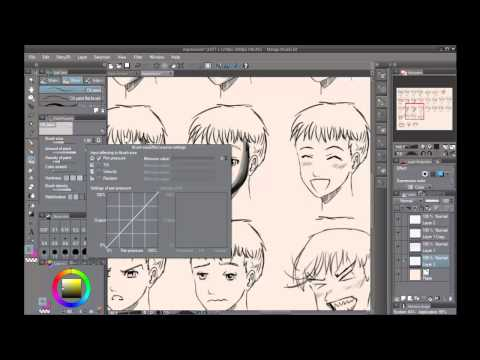 Manga Studio 5: My Brush, Pen, Pencil settings