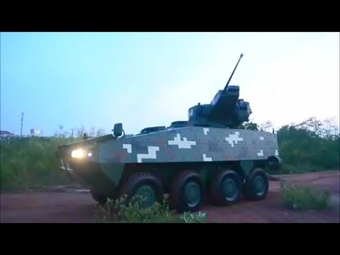 DTI - Thailand Domestically Built 8X8 Armoured Wheeled Vehicle Testing [1080p]