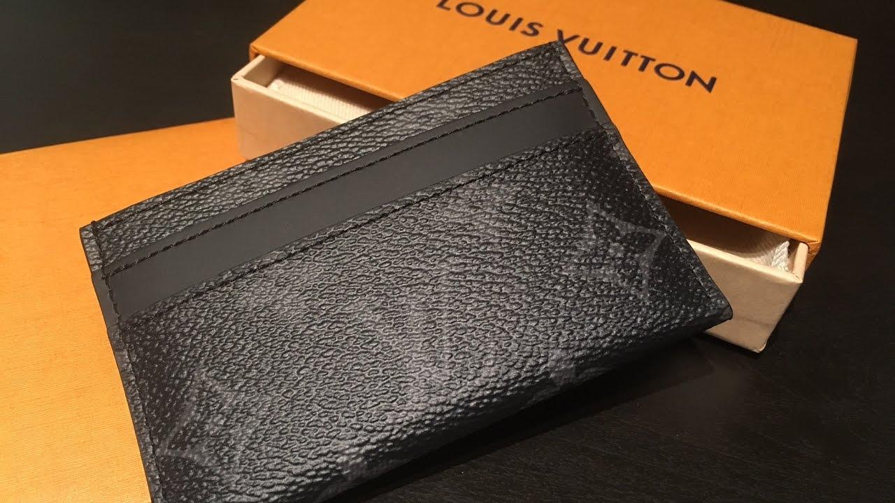 Louis vuitton porte cartes double review youtube - Supreme louis vuitton porta carte ...