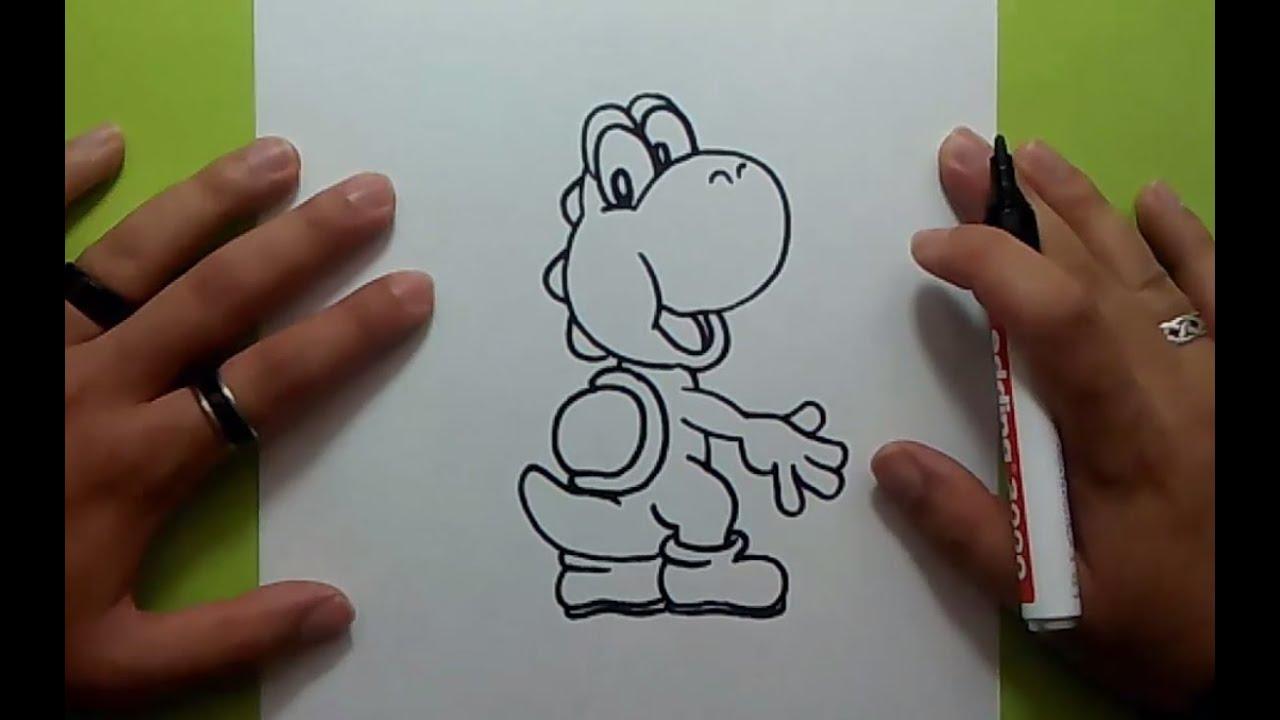 Como Dibujar A Yoshi Paso A Paso Videojuegos Mario How To Draw