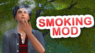 ADDICTED TO SMOKING?! // The Sims 4 || Mod Review