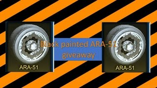 rocket league    black painted ara 51 giveaway re roll
