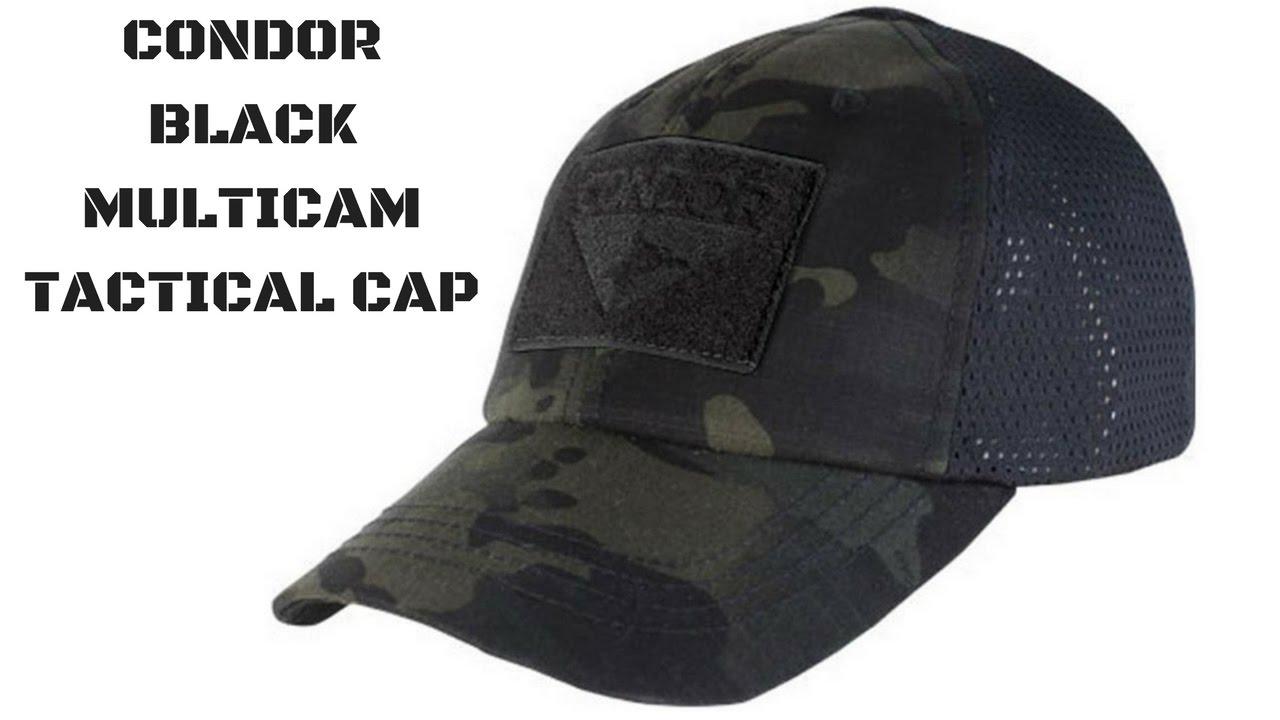 Condor Black MultiCam Tactical Operator Patch Cap - YouTube d9a5cfe471f