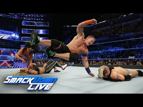 John Cena & Nikki Bella vs. James Ellsworth & Carmella: SmackDown LIVE, March 7, 2017