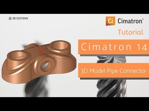 Cimatron Tutorial:Membuat Model 3D Pipe Connector