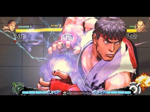 Cómo hacer los diferentes tipos de hadoken de Ryu