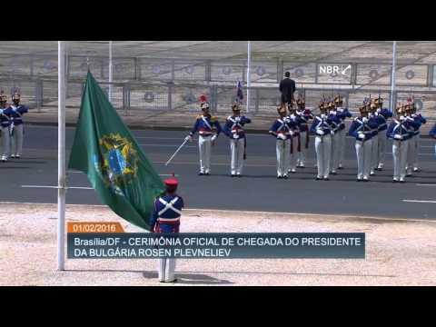 Presidente búlgaro Rosen Plevneliev chega ao Palácio do Planalto