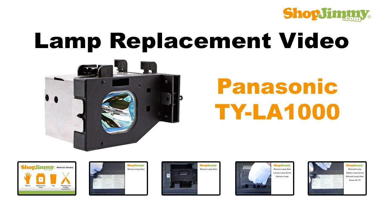 panasonic dlp tv repair replacing installing ty la1000 dlp lamp rh youtube com Panasonic PV Panasonic PT AR100U Projector