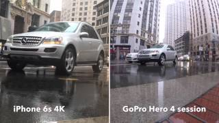 iPhone 6s vs. GoPro HERO4 Session day time video