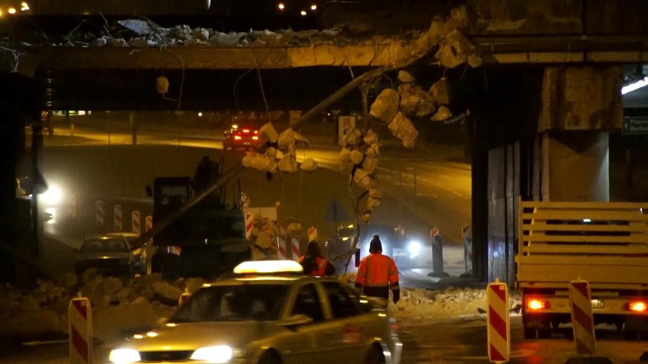 Rozpoczęło się burzenie wiaduktu na ul. Diamentowej w Lublinie. 30.01.2018