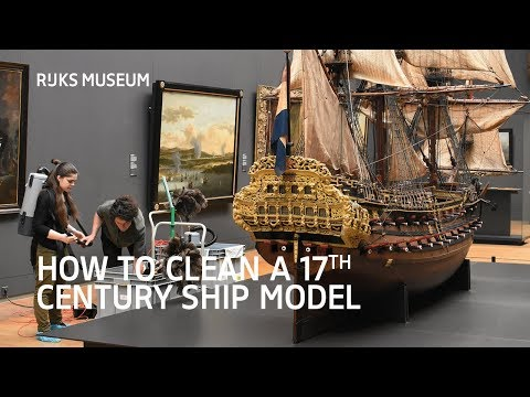How to clean a 17th century ship model - Rijksmuseum Behind the Scenes