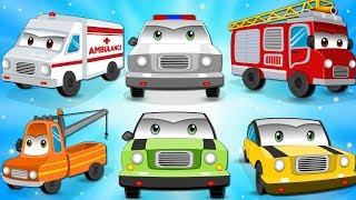 Police Vehicles | Police Car Song | Nursery Rhymes | Videos For Kids