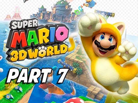Super Mario 3D World Walkthrough Part 7 - World 3 (100% ...
