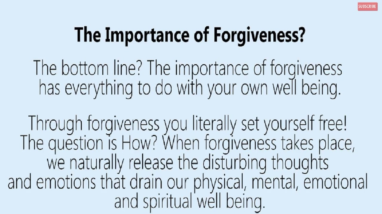 essays on the importance of forgiveness Free forgiveness papers, essays, and research bible based message on the importance of forgiveness - this is not an exhaustive or comprehensive treatment.