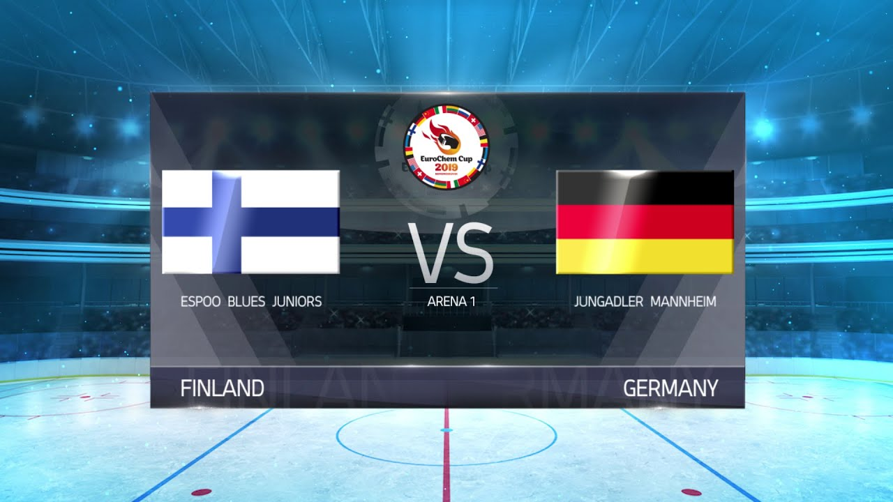 EuroChem Cup 2019 Arena 1 Day 3 Espoo Blues Juniors (Finland) - Jungadler  Mannheim (Germany)