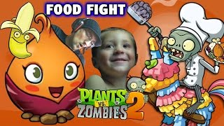 Plants Vs. Zombies Food Fight! The Sweet Potato! (thanksgiving Pinata Party W/ Chase) Pvz 2