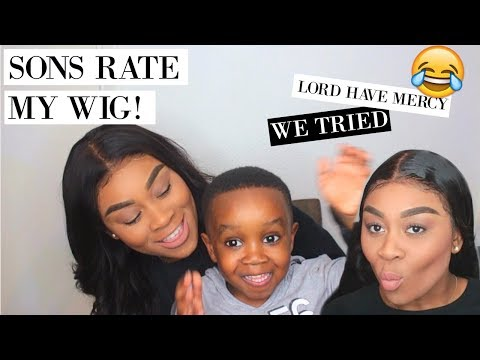 MY SONS GIVE HONEST REVIEW OF MY MSBUY 360 LACE WIG! 😂 | NISSYTEE