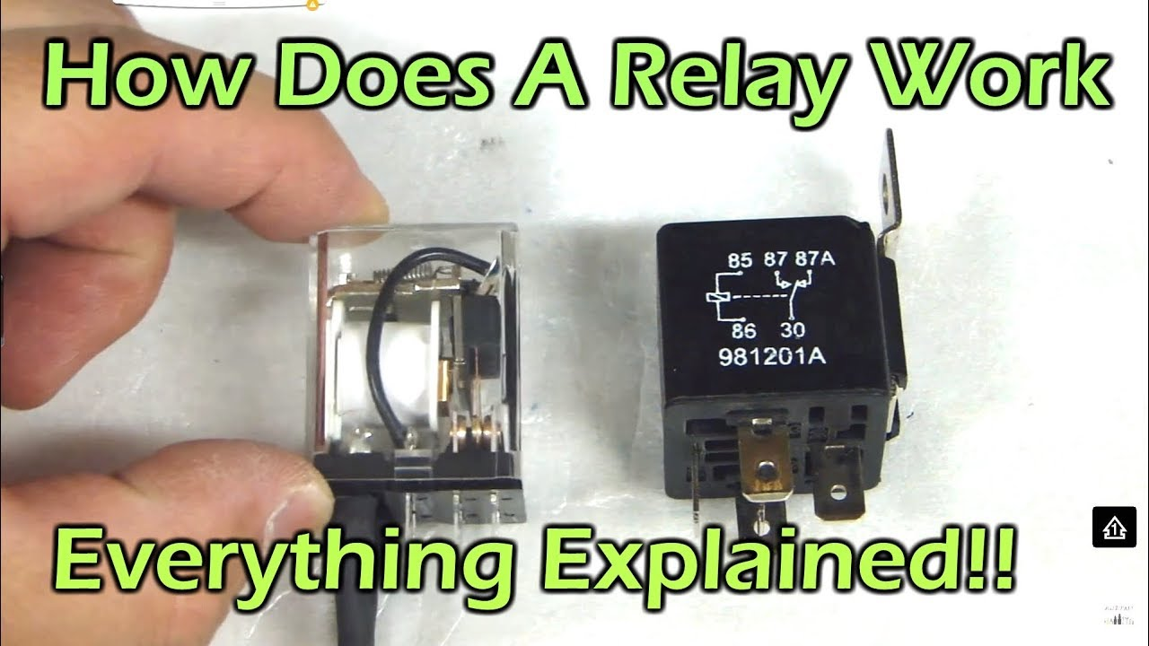 dpdt relay wiring diagram honda accord cl7 ecu how does a work spdt spst automotive youtube