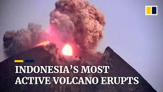 Indonesia's Most Active Volcano Mount Merapi Erupted, Sending Ash 2,000 Metres Into The Sky