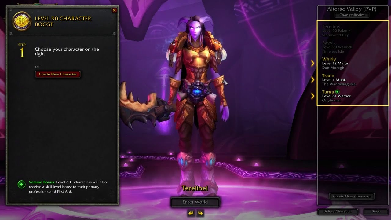 World of Warcraft Character Boost Tutorial