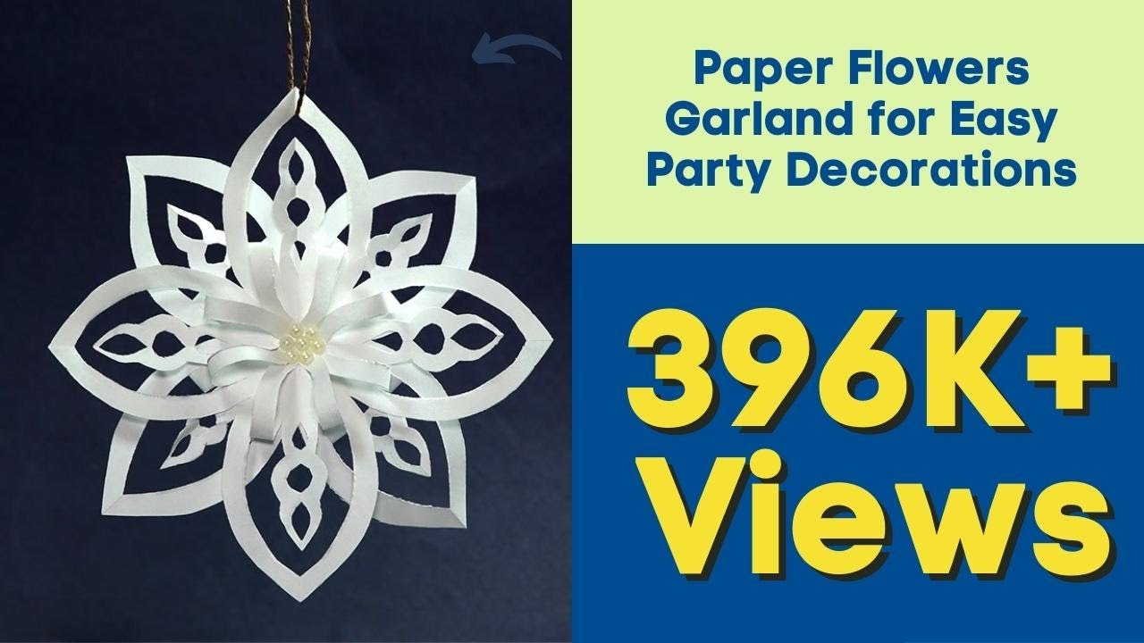 how to make paper snowflakes easy diy christmas decoration ideas youtube - Easy Paper Christmas Decorations