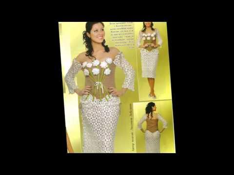 Смотреть онлайн Шикарные вязаные свадебные платья