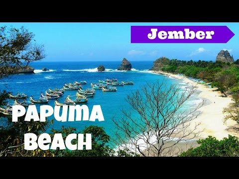 The Exotic View at Papuma Beach, Jember - East Java