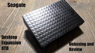 Seagate Expansion Desktop 8TB Unboxing and Review