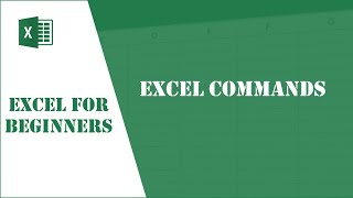 Excel Tutorial 2 - Excel Commands