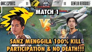MPL ID S6 WEEK 1 ONIC VS GFLX GAME 1, GOKILLLL 100% KILL PARTICIPATION BOSSS SANZ AEEEE