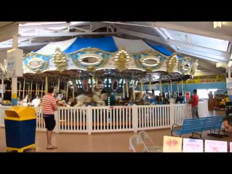 Seaside Heights NJ   CAROUSEL   in june 2013 with its wonderful organ music but burns in the fire