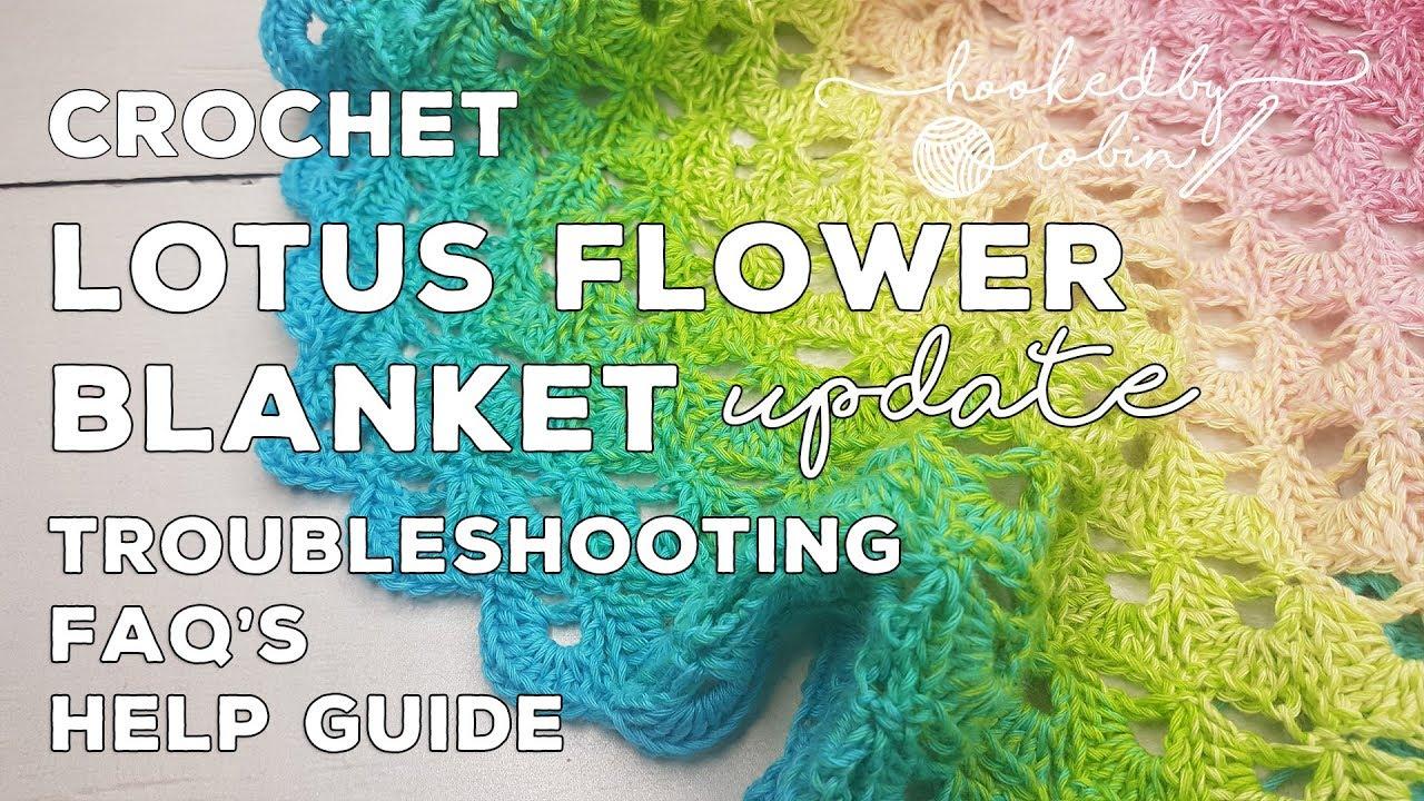 Lotus Flower Blanket Free Crochet Circle Blanket Pattern And Video