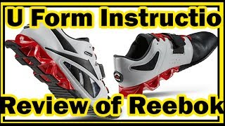 Crossfit Lifter U Form Instructions and Review of Crossift weightlifting shoe