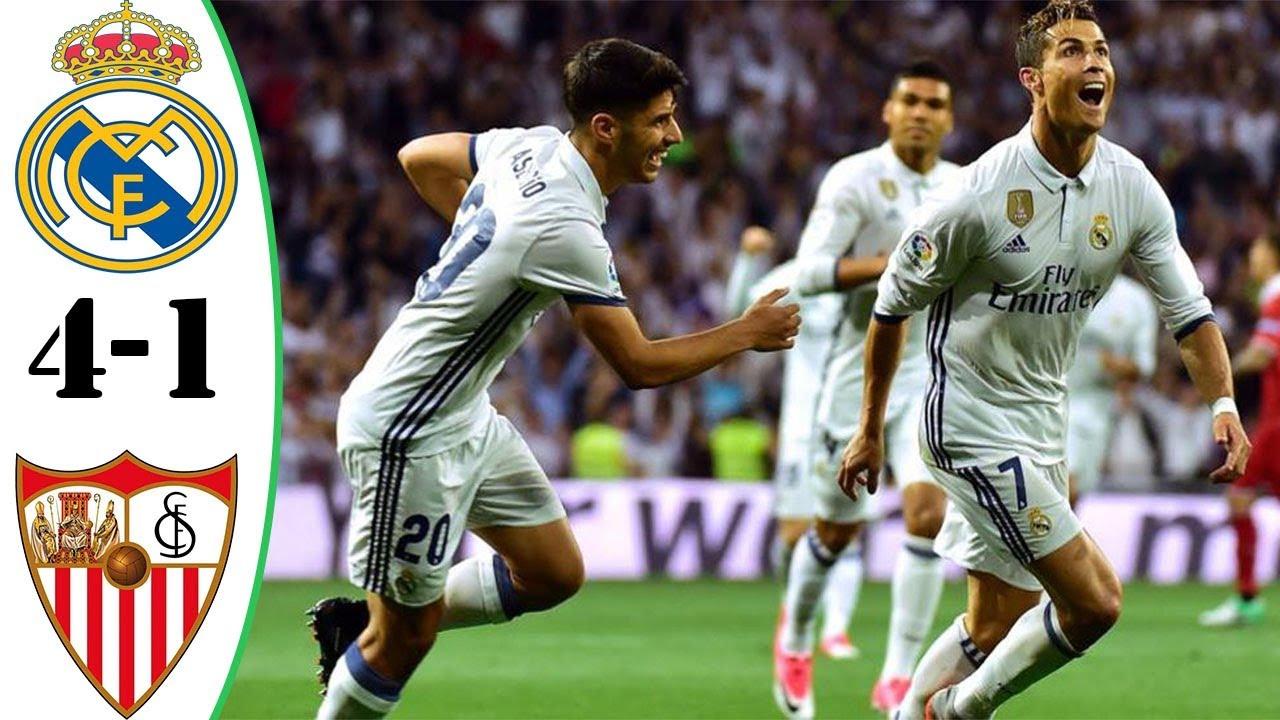 Real Madrid Vs Sevilla 4 1 Highlights Full Match Goals Last