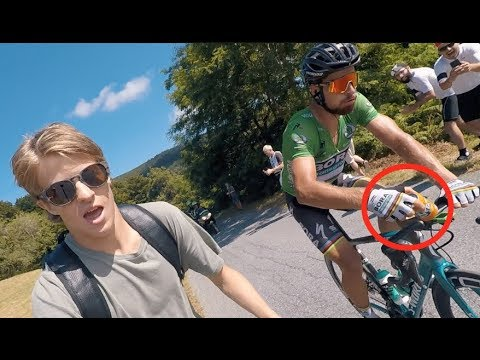 RUNNING WITH PETER SAGAN... TOUR DE FRANCE  VLOG 102