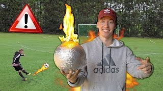 Testing a Flaming Football! (EXPERIMENT)